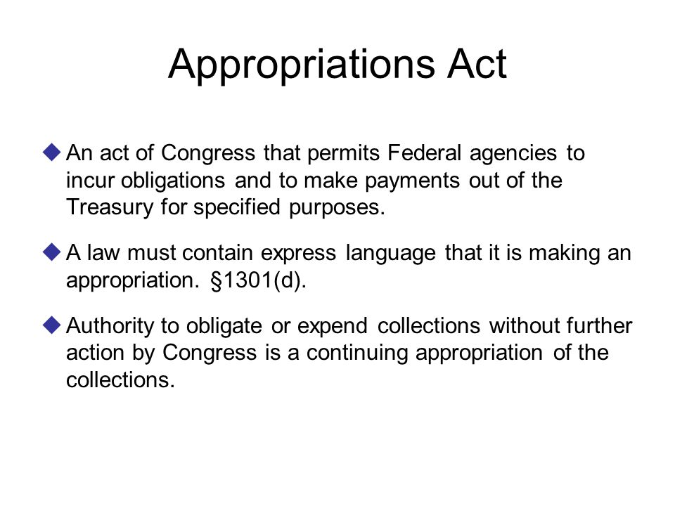 Appropriations Act