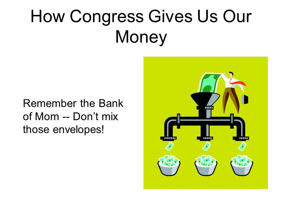 How Congress Gives Us Our Money