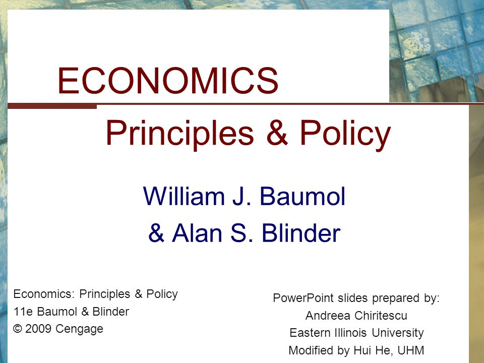 ECONOMICS Principles & Policy
