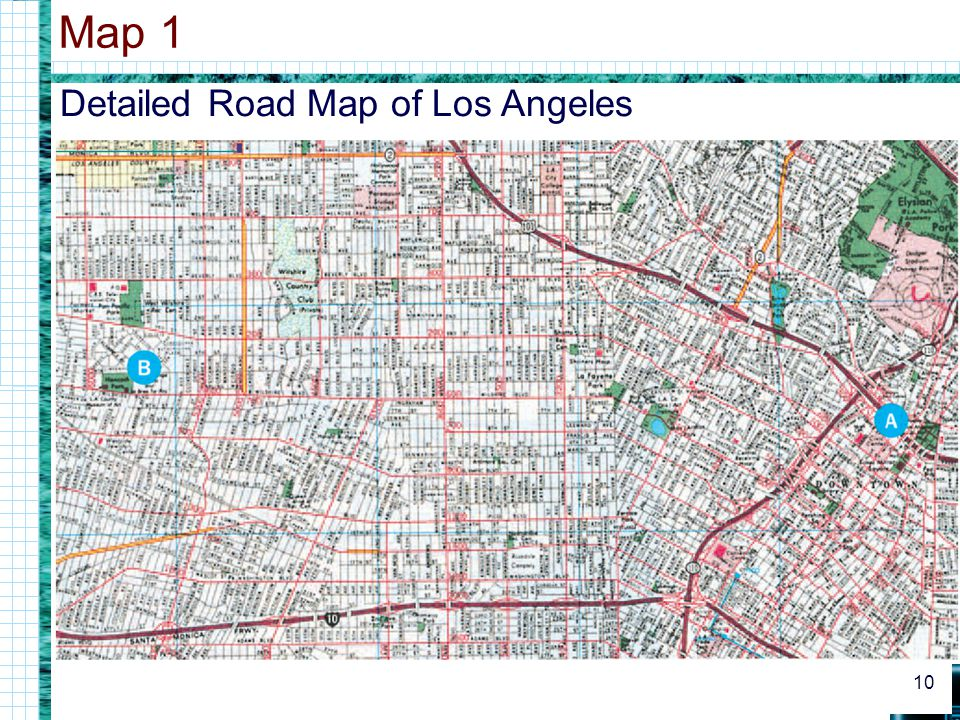 Map 1 Detailed Road Map of Los Angeles