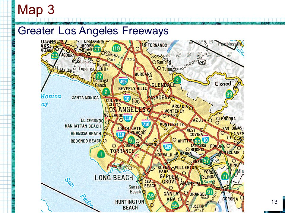 Map 3 Greater Los Angeles Freeways