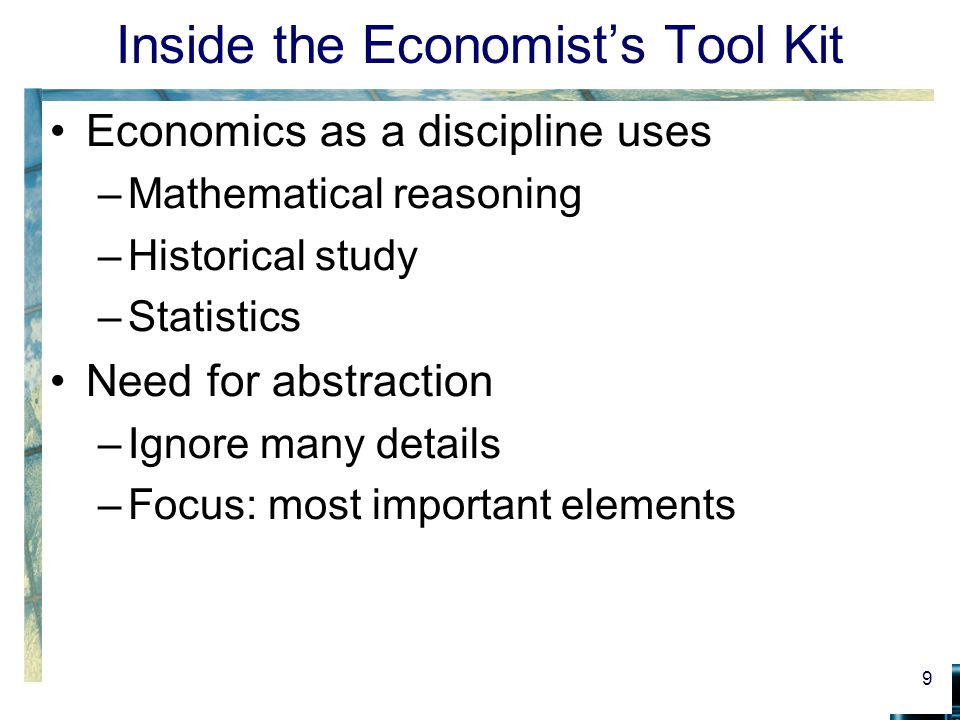 Inside the Economist's Tool Kit