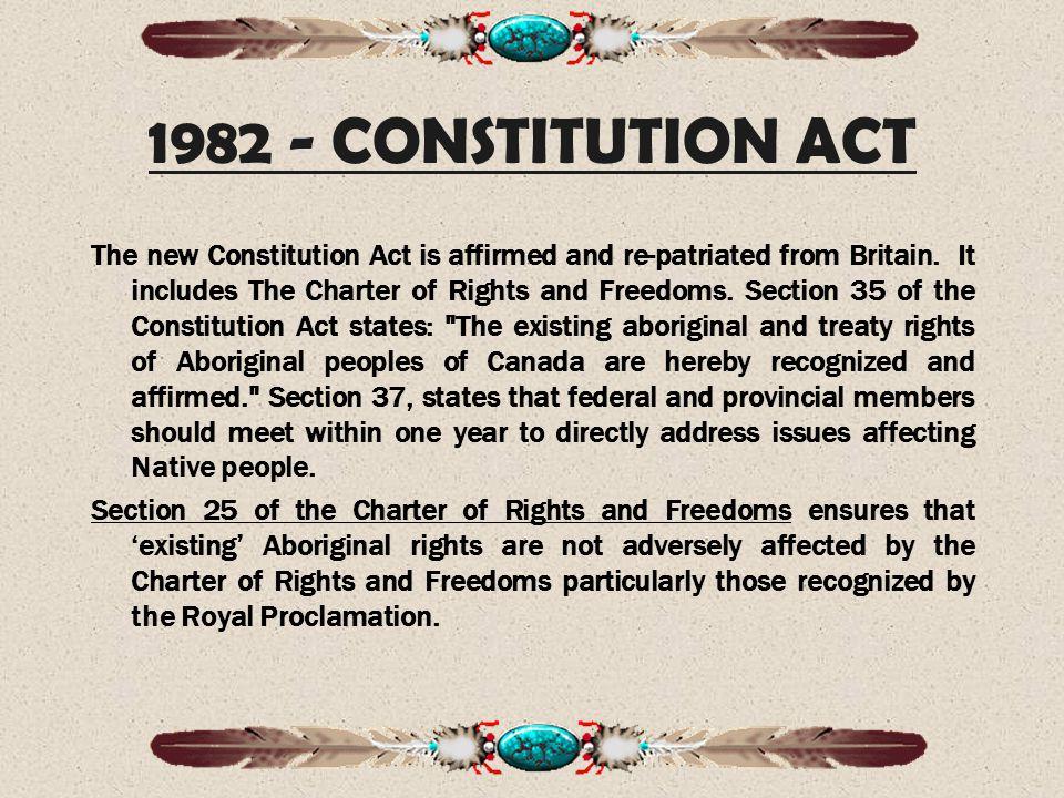 1982 - CONSTITUTION ACT