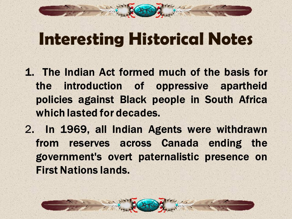 Interesting Historical Notes