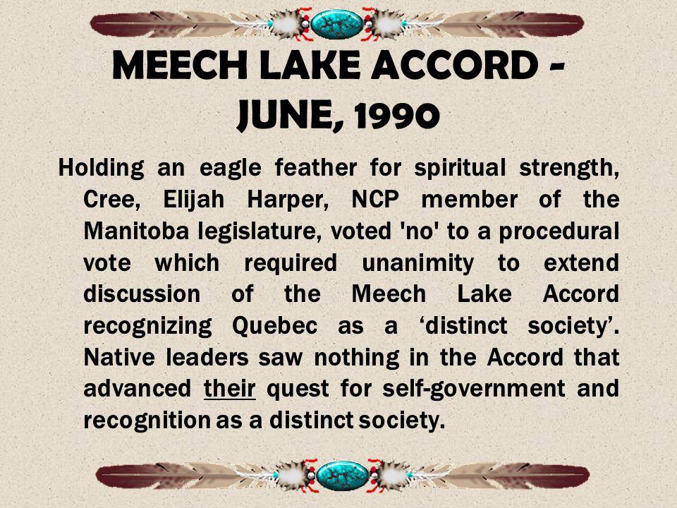 MEECH LAKE ACCORD - JUNE, 1990