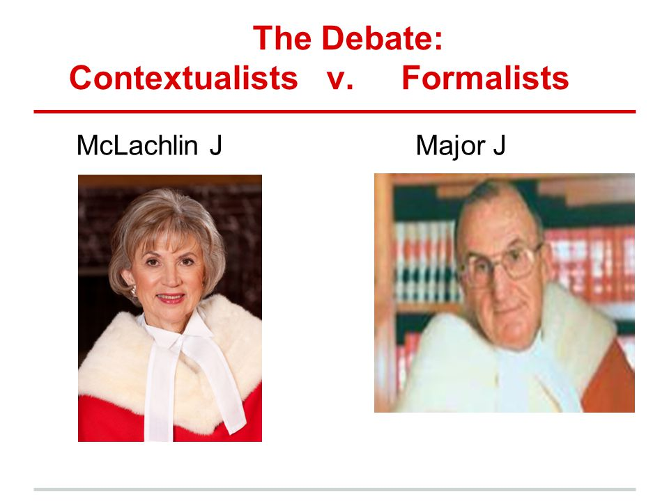 The Debate: Contextualists v. Formalists