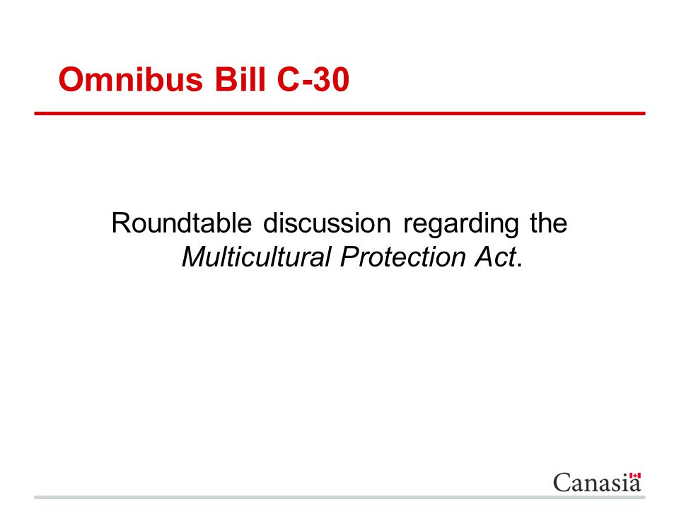 Roundtable discussion regarding the Multicultural Protection Act.