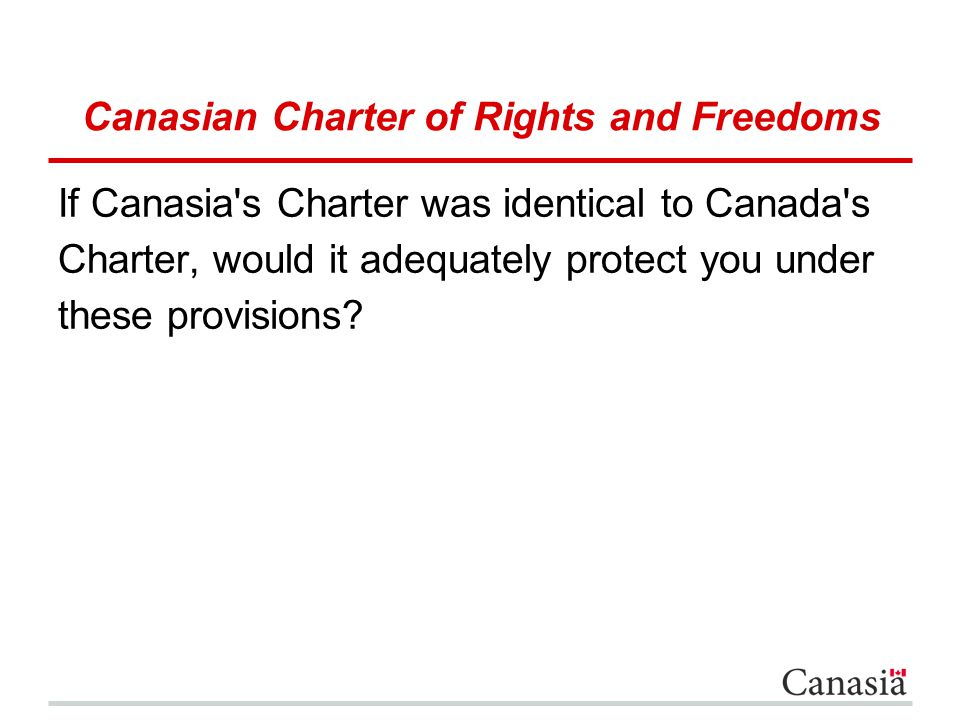 Canasian Charter of Rights and Freedoms