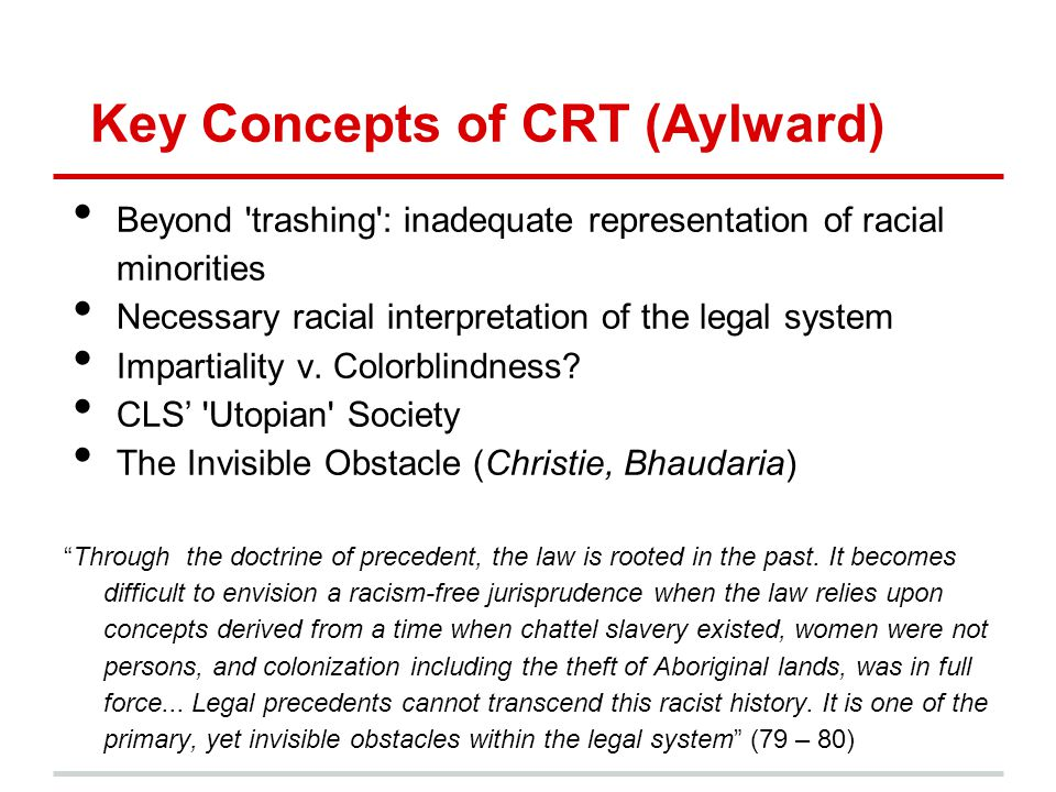 Key Concepts of CRT (Aylward)