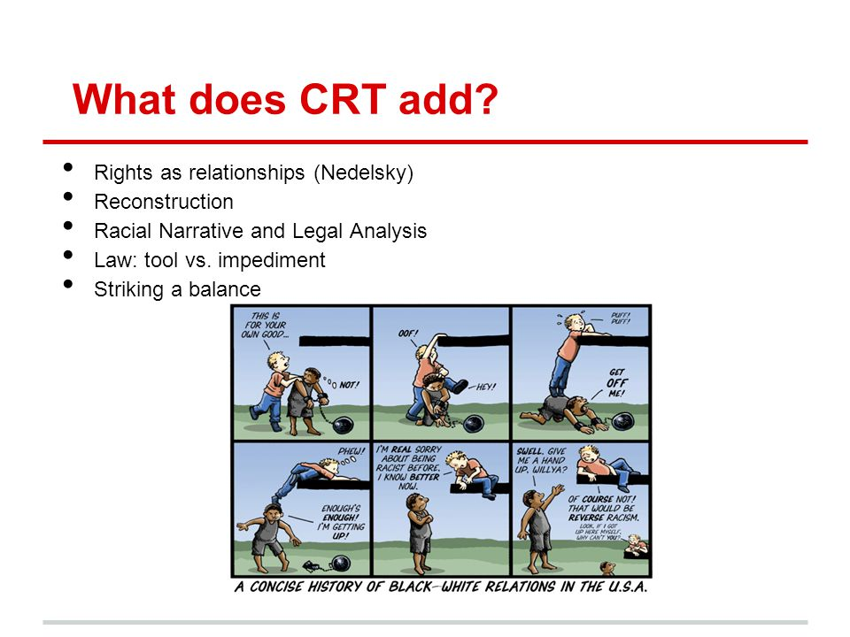 What does CRT add Rights as relationships (Nedelsky) Reconstruction
