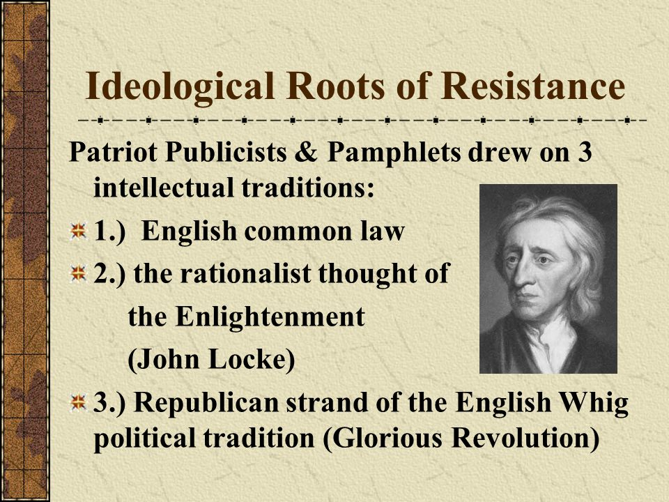 Ideological Roots of Resistance