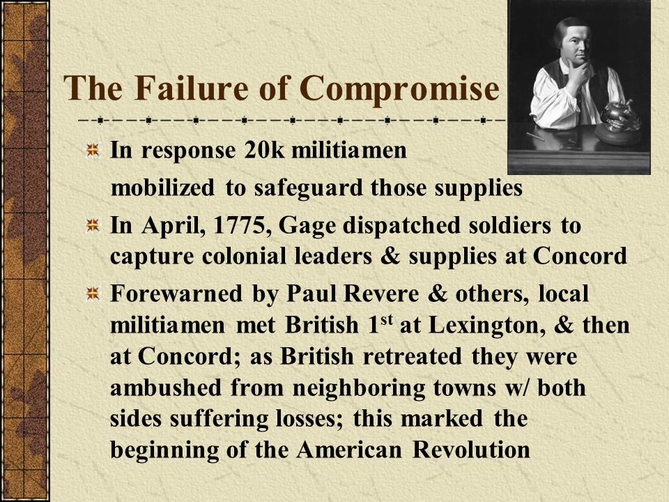 The Failure of Compromise
