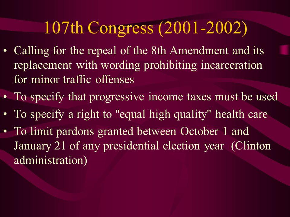 107th Congress (2001-2002)
