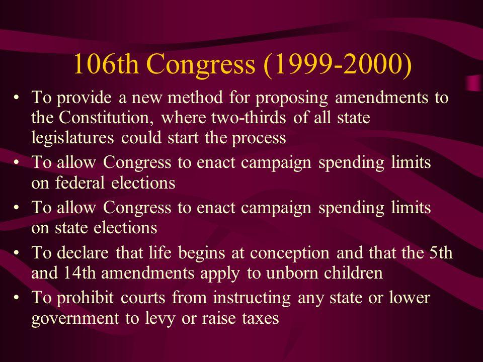 106th Congress (1999-2000)