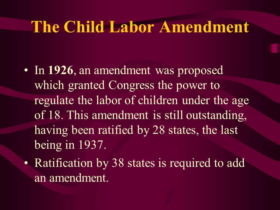The Child Labor Amendment