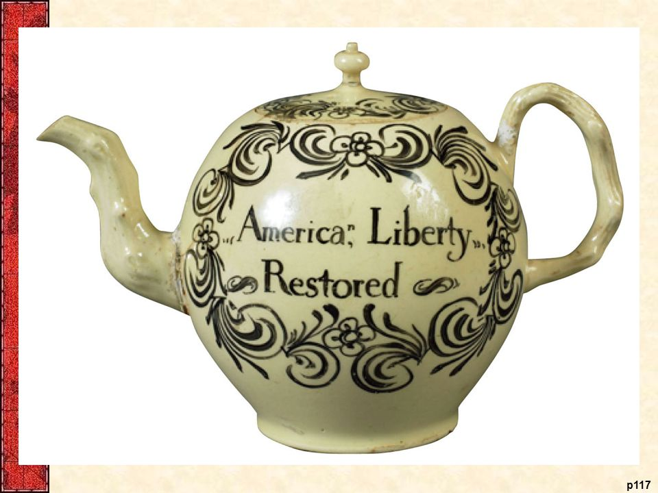 Protesting the Stamp Act Even common household wares in the 1760s testified to