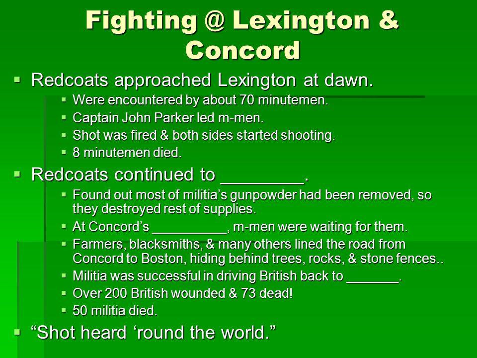Fighting @ Lexington & Concord