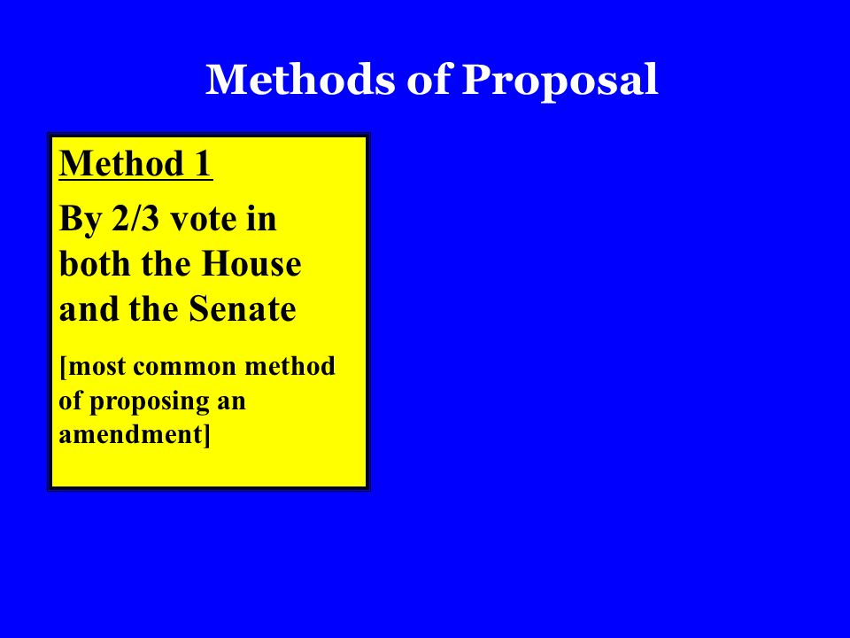 Methods of Proposal Method 1