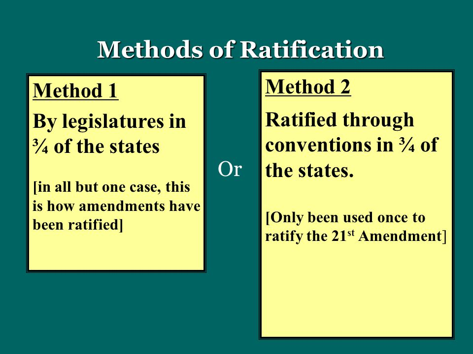 Methods of Ratification
