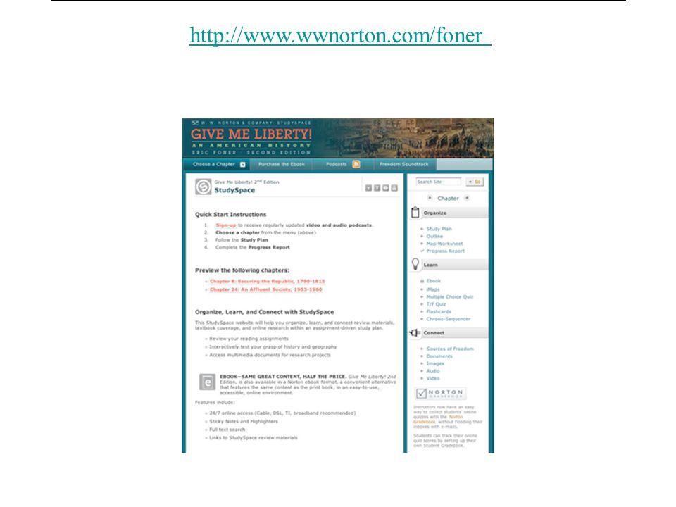 Studyspace link http://www.wwnorton.com/foner