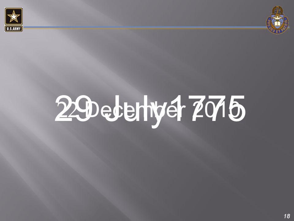 29 July1775 22 December 2010.