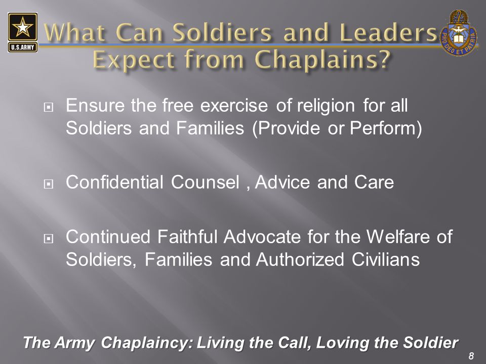 What Can Soldiers and Leaders Expect from Chaplains