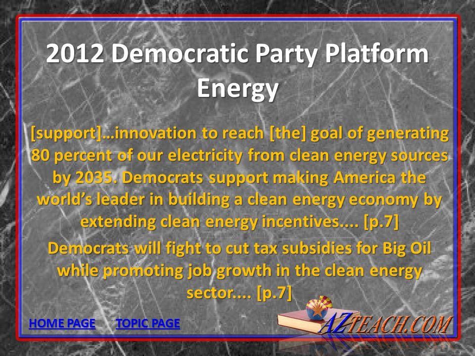 2012 Democratic Party Platform Energy