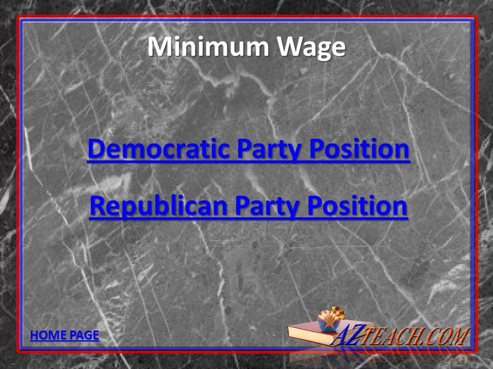 Democratic Party Position Republican Party Position