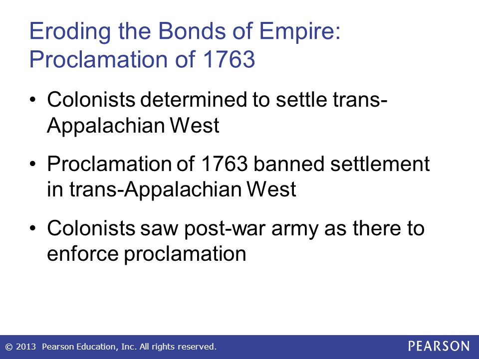 Eroding the Bonds of Empire: Proclamation of 1763