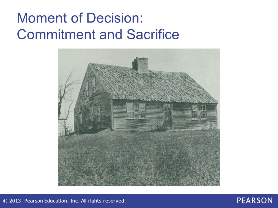 Moment of Decision: Commitment and Sacrifice