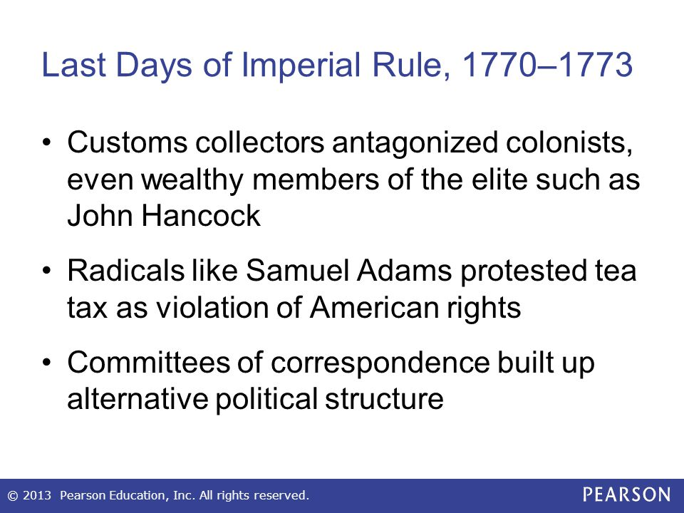 Last Days of Imperial Rule, 1770–1773