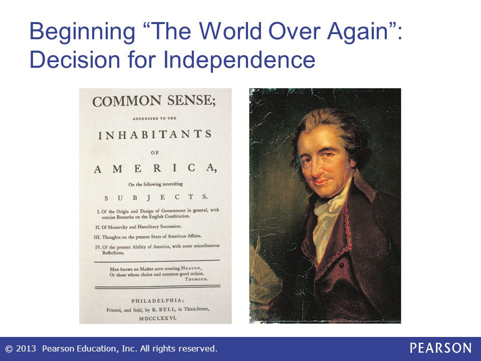 Beginning The World Over Again : Decision for Independence
