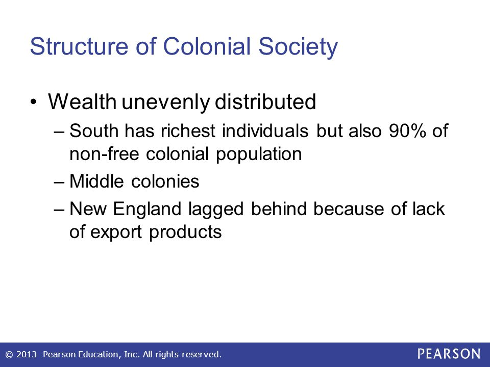 Structure of Colonial Society
