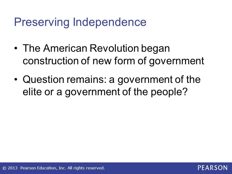 Preserving Independence