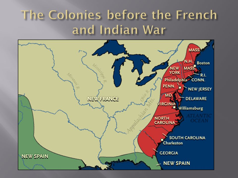 The Colonies before the French and Indian War