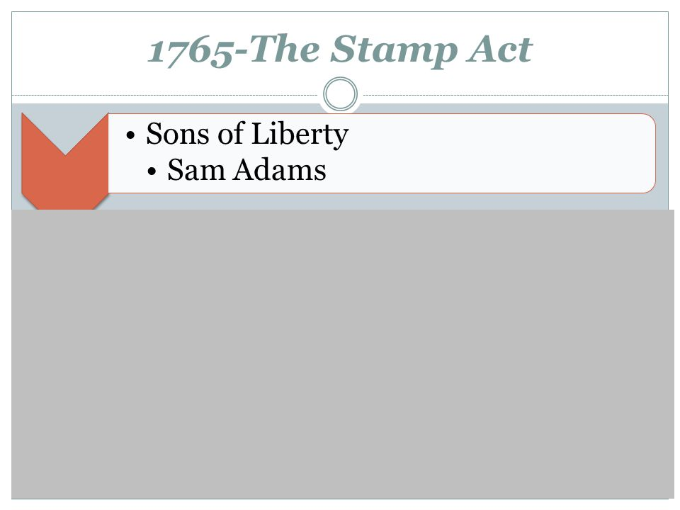 1765-The Stamp Act Sons of Liberty Sam Adams Stamp Act Resolutions