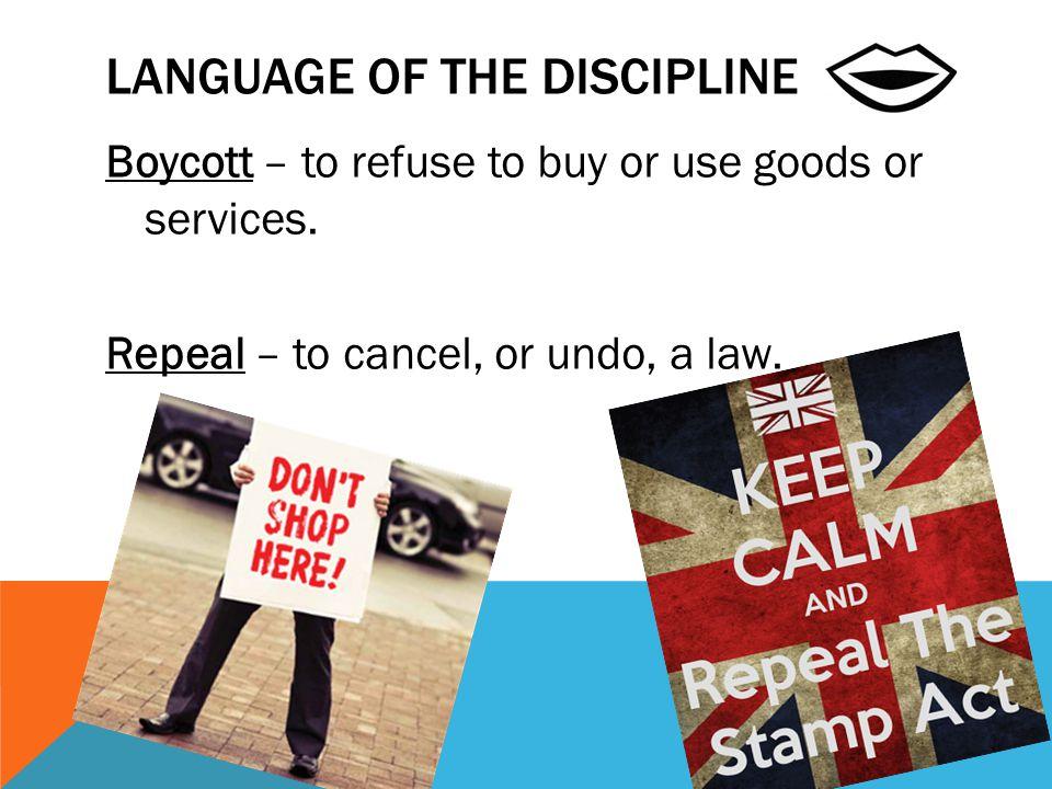 Language of the Discipline