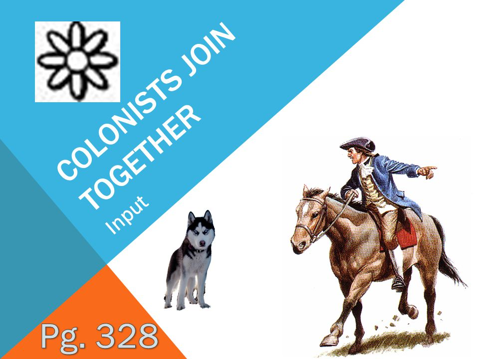 Colonists join together