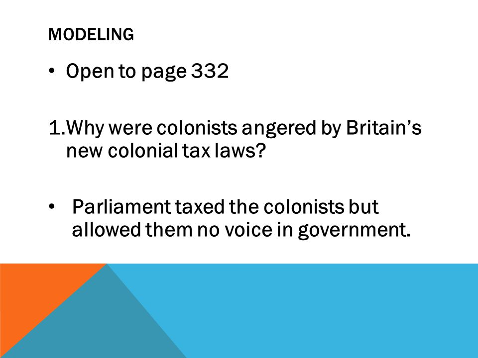 Why were colonists angered by Britain's new colonial tax laws