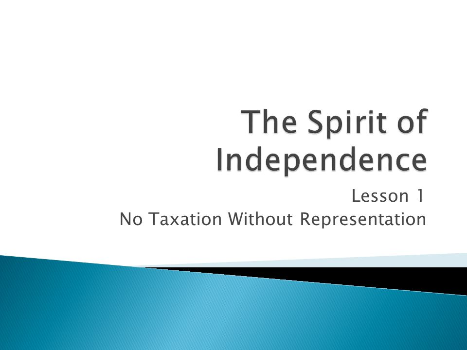 The Spirit of Independence