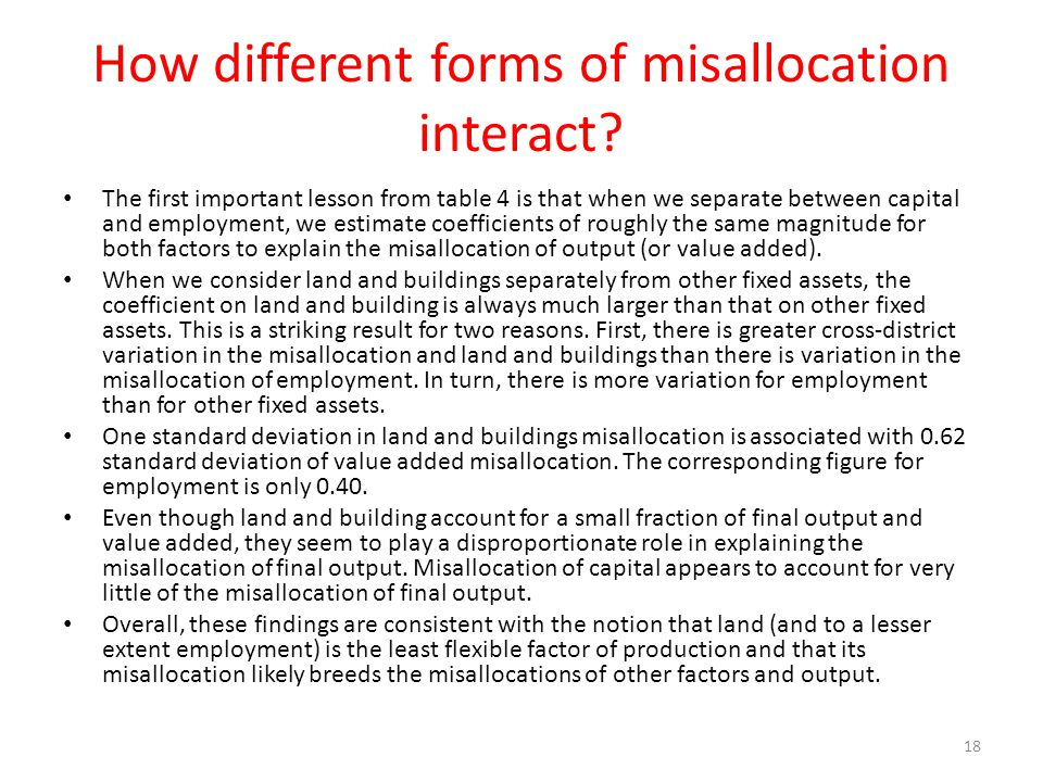 How different forms of misallocation interact