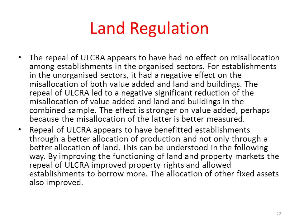 Land Regulation
