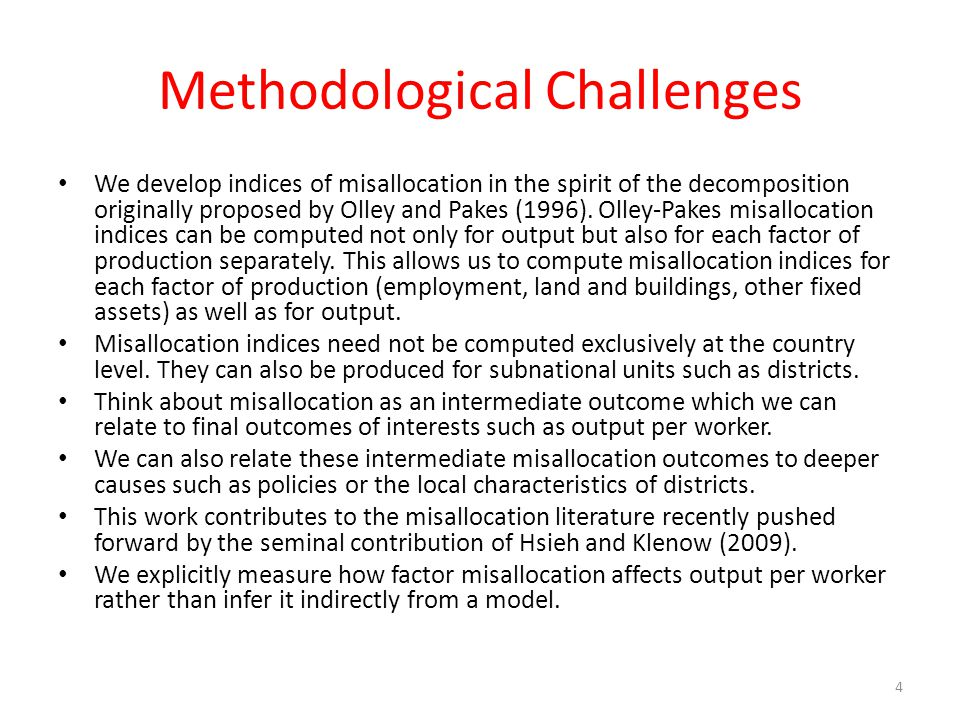 Methodological Challenges