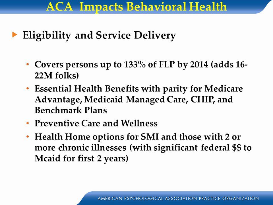 ACA Impacts Behavioral Health