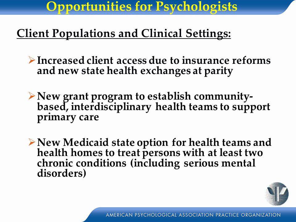 Opportunities for Psychologists