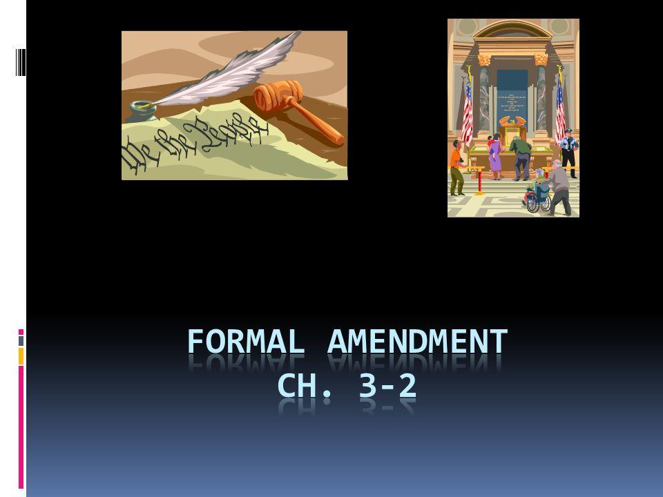 FORMAL AMENDMENT Ch. 3-2