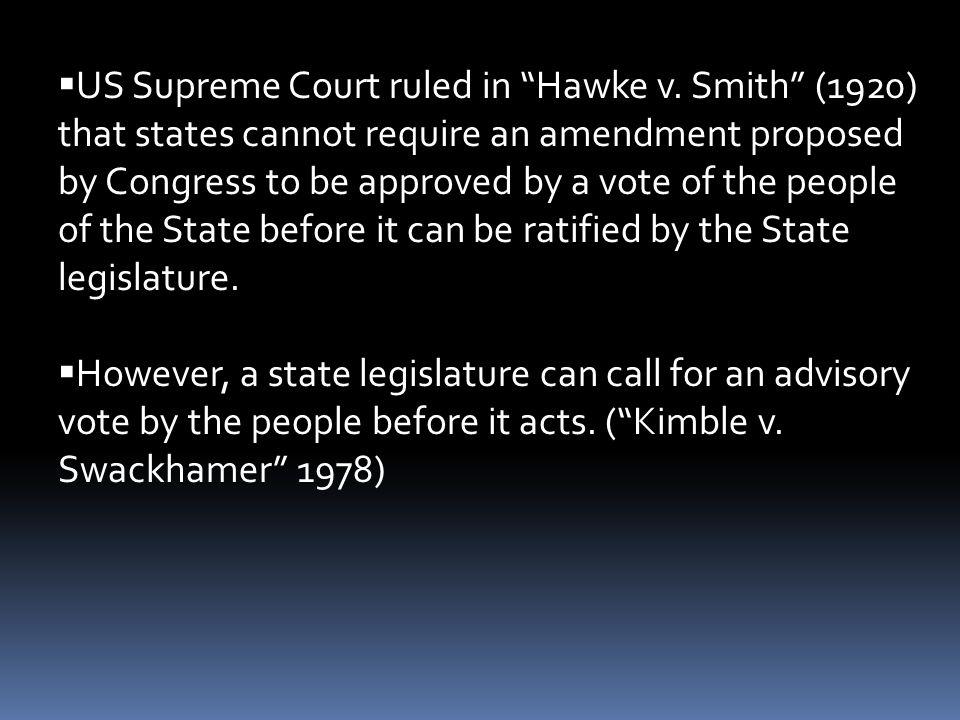 US Supreme Court ruled in Hawke v