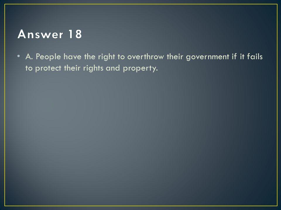 Answer 18 A.