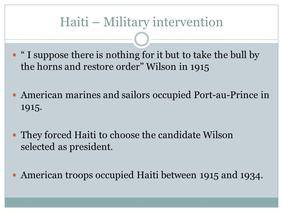 Haiti – Military intervention