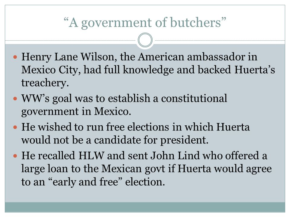 A government of butchers